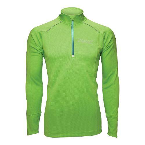Mens Zoot MICROlite+ Long Sleeve 1/2 Zip Technical Tops - Green Flash L