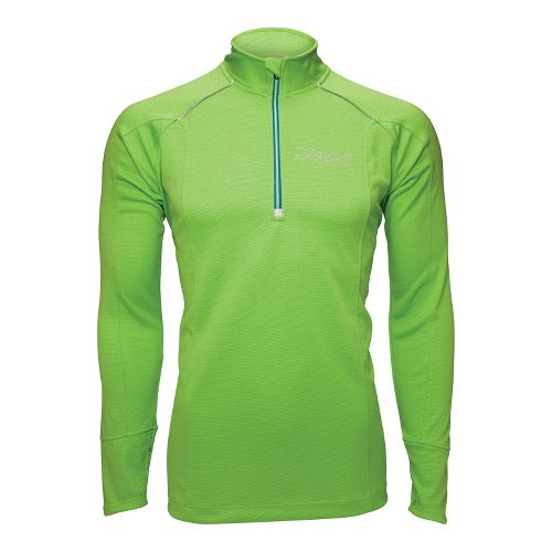 Mens Zoot MICROlite+ Long Sleeve 1/2 Zip Technical Tops - Green Flash S