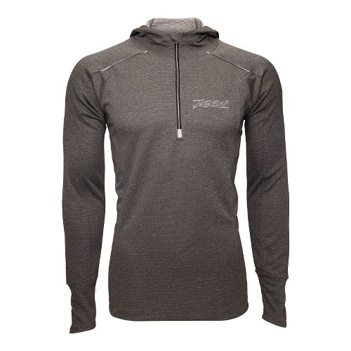Mens Zoot MICROlite+ Hoodie Long Sleeve 1/2 Zip Technical Tops - Black Heather M