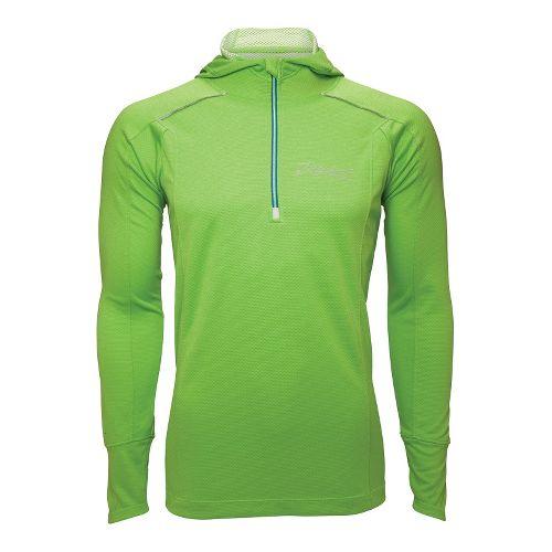 Mens Zoot MICROlite+ Hoodie Long Sleeve 1/2 Zip Technical Tops - Green Flash L