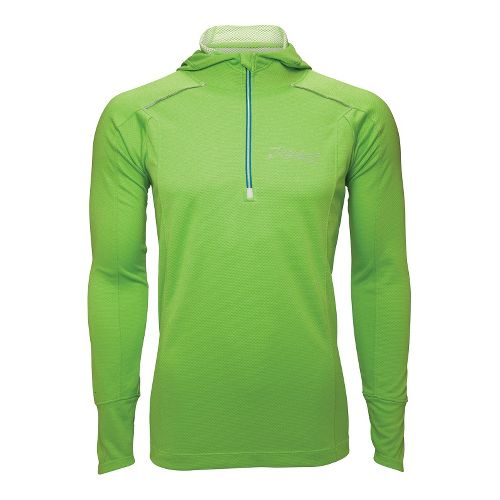Mens Zoot MICROlite+ Hoodie Long Sleeve 1/2 Zip Technical Tops - Green Flash M