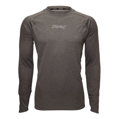 Mens Zoot MICROlite+ Tee Long Sleeve No Zip Technical Tops - Black Heather S