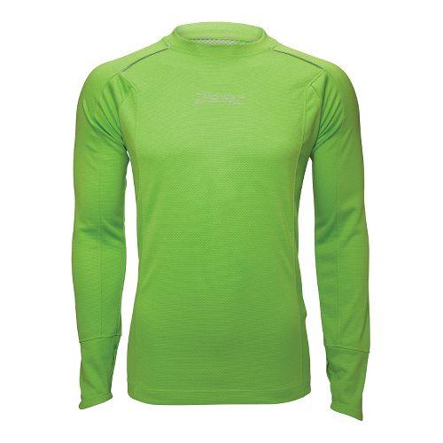 Mens Zoot MICROlite+ Tee Long Sleeve No Zip Technical Tops - Green Flash S