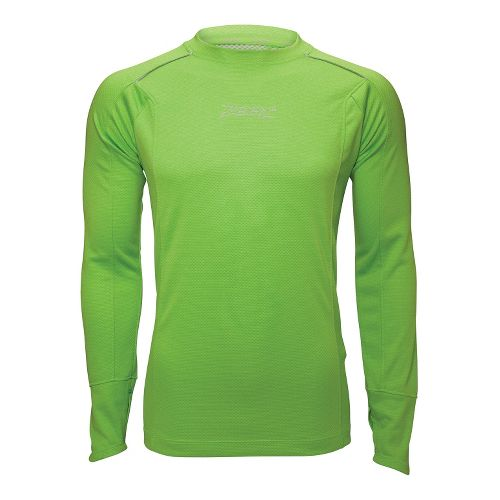 Mens Zoot MICROlite+ Tee Long Sleeve No Zip Technical Tops - Green Flash XL