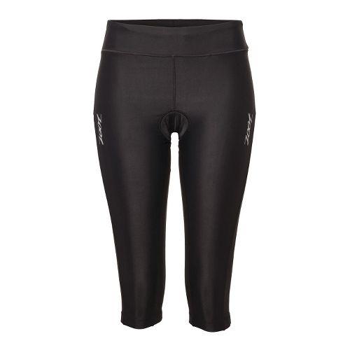 Womens Zoot Performance TT Knicker Capri Tights - Black XL
