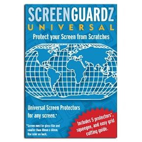 ScreenGuardz UNIVERSAL SCREEENGUARDZ 5 PACK Universal Screen Protectors