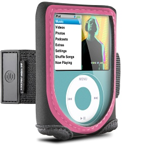 DLO Action Jacket (pink) for iPod nano 3G Neoprene case with armband/belt clip for iPod nano