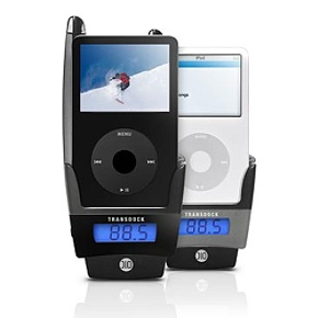 DLO TransDock Black TransDock FM Transmitter, Charger, And Cradle With Video Out