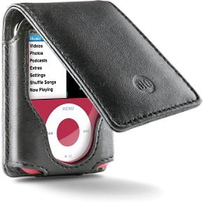 DLO HipCase folio for iPod nano Leather folio with belt clip for iPod nano