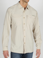 The GeoTrek'r Field is a stylish travel shirt that is just rugged enough for ...