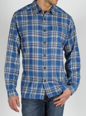 The Trailing Off Macro Plaid Flannel Shirt will keep you comfortable and warm...