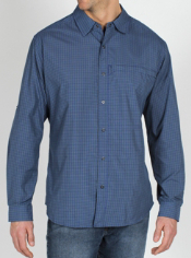 The Trip'r Check Long-Sleeve Shirt is built for traveling. Day after day, it ...