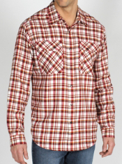 The Roughian Plaid Flannel puts a classic rugged look in a lived-in style. ...
