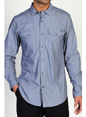 The Ferrara Chambray has two button-down patch-pockets on the chest with a ...