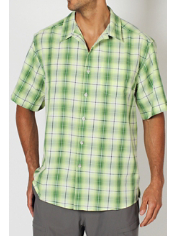 Get style and packability in one package with the Pisco Macro Plaid shirt. ...