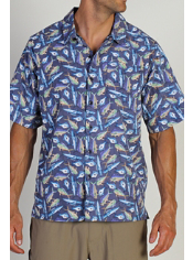 The Fish Story Print is a lightweight travel shirt that is perfect for any ...