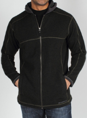 Get stylish and warm at the same time with the wool blend Roughian Hooded ...