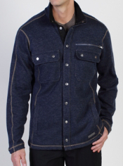 The Ruvido Shirt Jack takes sweaters to the next level. With detailed metal ...