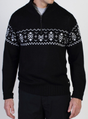 The Cafenisto 1/4 Zip Jacquard is a classic patterned sweater taken to the ...
