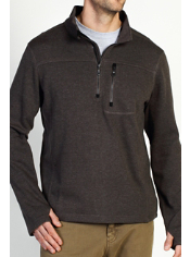 The Kahve Thermal 1/4 Zip features JavaTech technology for superior fabric ...