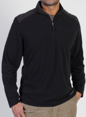 Layer up with the Meridius 1/4 Zip Fleece. It features stripe fleece details,...