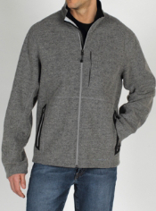 The Consolo Fleece Jacket is constructed from a wool blend for the perfect ...