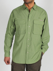 The BugsAway Baja Shirt has a UPF 30+ rating and has adjustable mesh ...