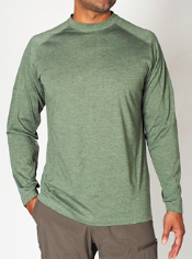The long-sleeve SecuriTee is Insect Shield® Repellent Apparel from ExOfficio,...