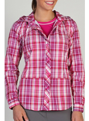 The Abrizia Plaid Hooded Sun Shirt is the perfect solution for those hot ...