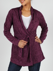 Bring floral fashion to any look with the aZa Cardigan Wrap. Featuring a ...