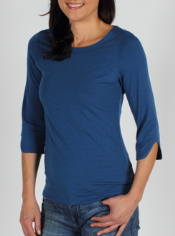 A flattering neckline and fun notch sleeve detail take the Go-To Boatneck ...