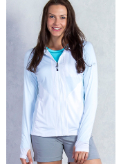 The Sol Cool Hooded Zippy lives up to its name with Icefil® treated fabric. ...