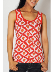 Spice up your outfit with the Go-To Diamond Tank. A fun print will add flair ...