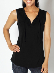 Look fashionable and feminine everywhere you roam in the Go-To Ruffle Tank. ...