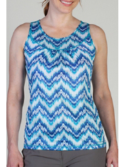 Whether you wear it alone or layered, the lightweight Micria Printed Tank is ...