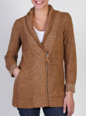 Whenever you feel a chill, reach for the DeLana Zip Cardigan. This unique ...