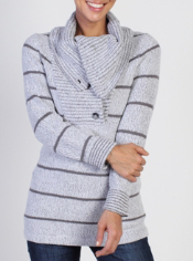 You'll never get caught out in the cold with the DeLana Super Cozy Sweater. ...