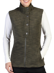 Snuggle up in the Calluna Fleece Vest whether you're walking through a ski ...