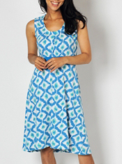 The flattering diamond print Go-To is a fun travel dress that is functional ...