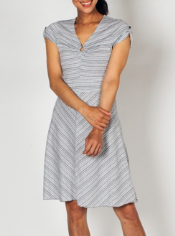 Get your stripe on with the cute Go-To Stripe Dress. This tee style dress ...