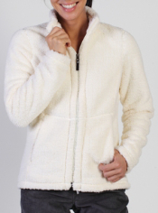 This cozy fleece Sheeba Jacket is a fantastic lounge around layer.