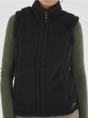 This cozy fleece Sheeba Vest is a fantastic lounge around layer.