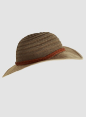 Keep the sun's rays at bay with this fun flexible brim hat. It packs easily ...