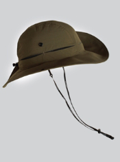 The sun protective Tulemar Brim Hat, rated UPF 30+ and with a Durable Water ...
