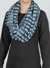 There are as many ways to wear the Irresistible Neska Stripe Infinity Scarf ...