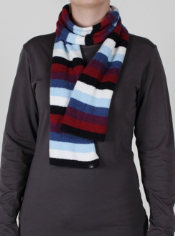 The Irresistible Neska 6 Stripe Scarf is as fun as it is soft. The dramatic ...