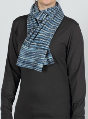 As soft and light as a cloud, the Irresistible Stripe scarf is a fun addition...