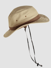The BugsAway Canvas Brim Hat keeps away harmful UVA and UVB rays as well as ...