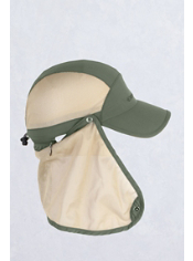 The BugsAway Mesh Cape Hat provides insect and sun protection with a UPF 30+ ...