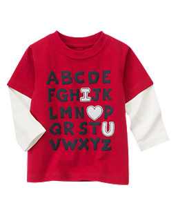 Alphabet Double Sleeve Tee